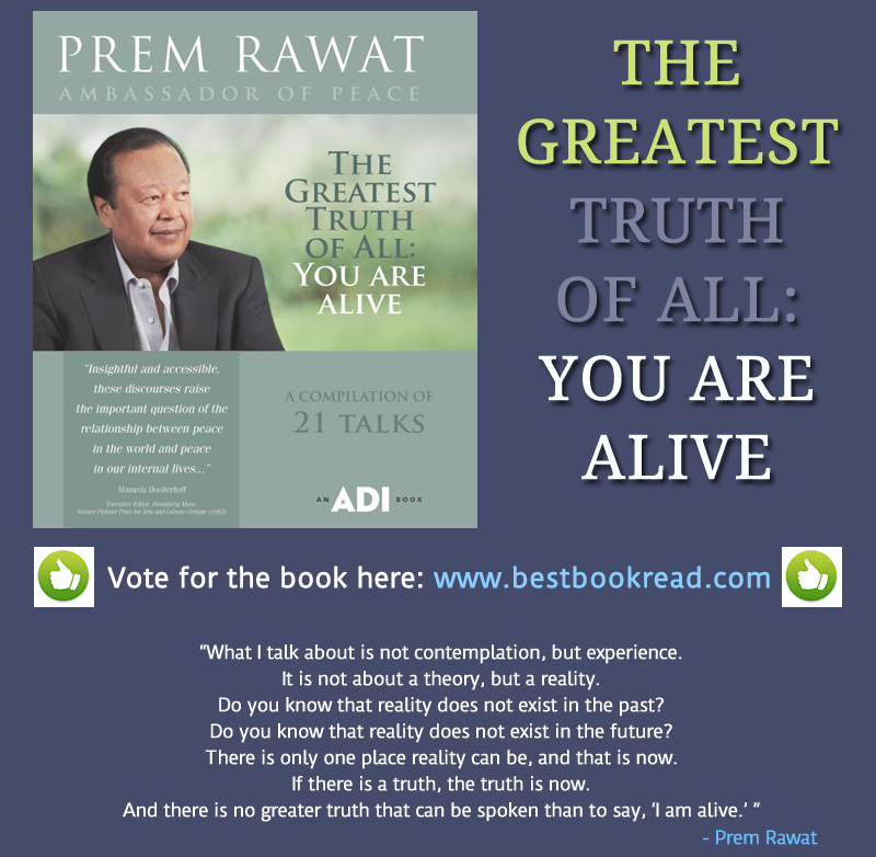 book,greatest truth,Prem Rawat,quote