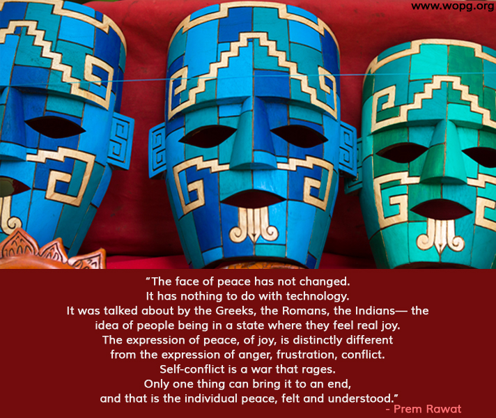 face,mask,Prem Rawat,quote