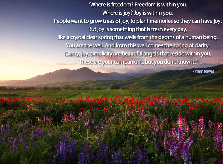 morning,field,Prem Rawat,quote