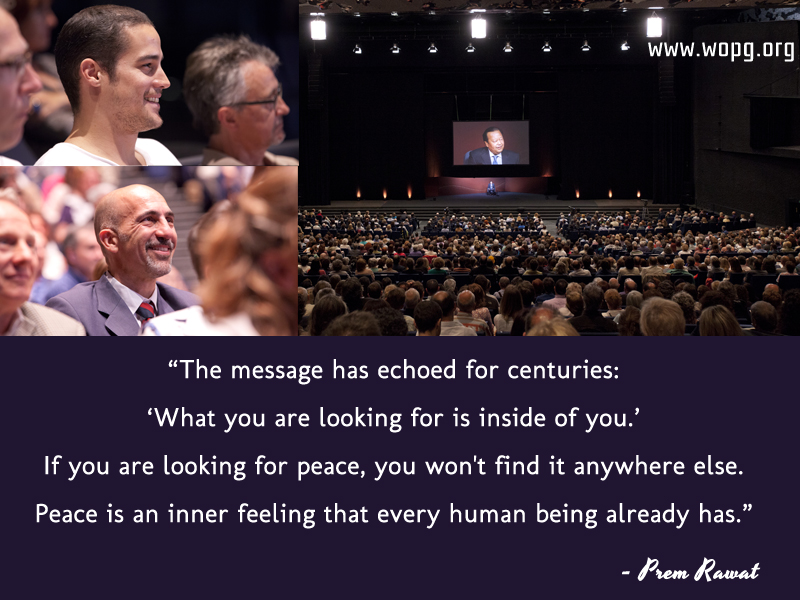 event,audience,hall,Prem Rawat,quote