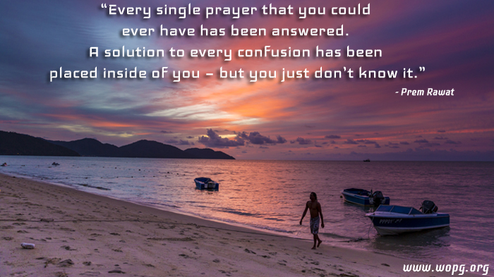 sunrise,beach,Prem Rawat,quote