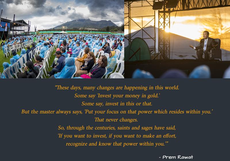 open air,event,amphitheatre,Prem Rawat,quote