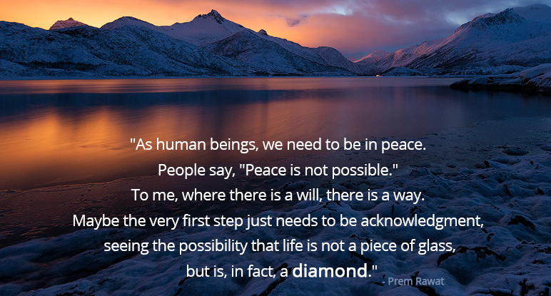 hdr,mountain lake,Prem Rawat,quote