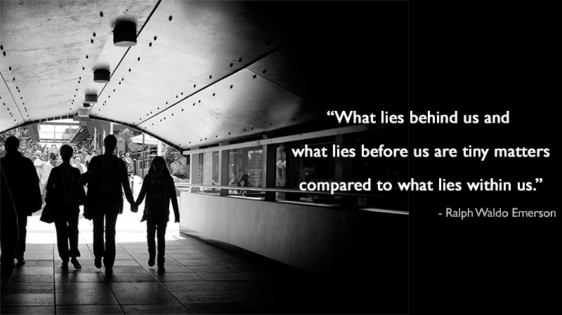 subway, black & white,Ralph Waldo Emerson,quote