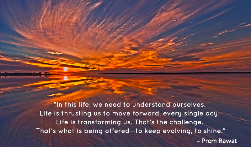 reflection, sea,Prem Rawat,quote