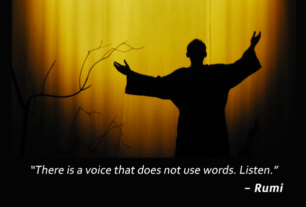 silhouette,Rumi,quote