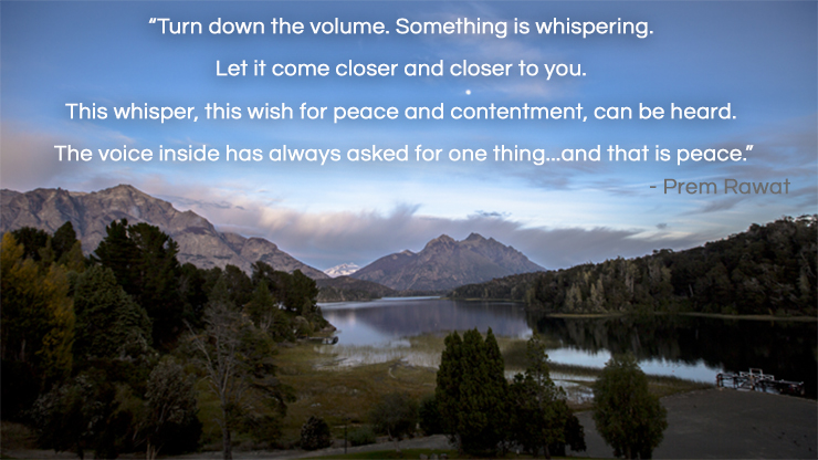 mountain,still water,Prem Rawat,quote