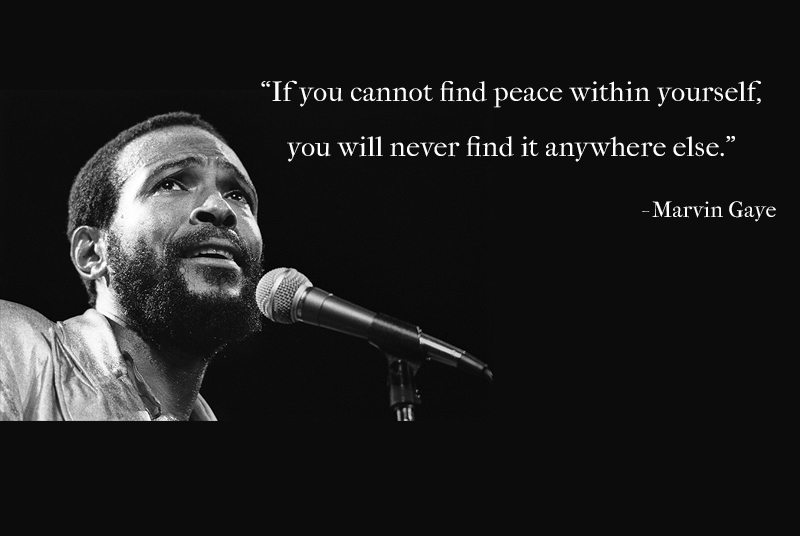portrait, b&w,Marvin Gaye,quote