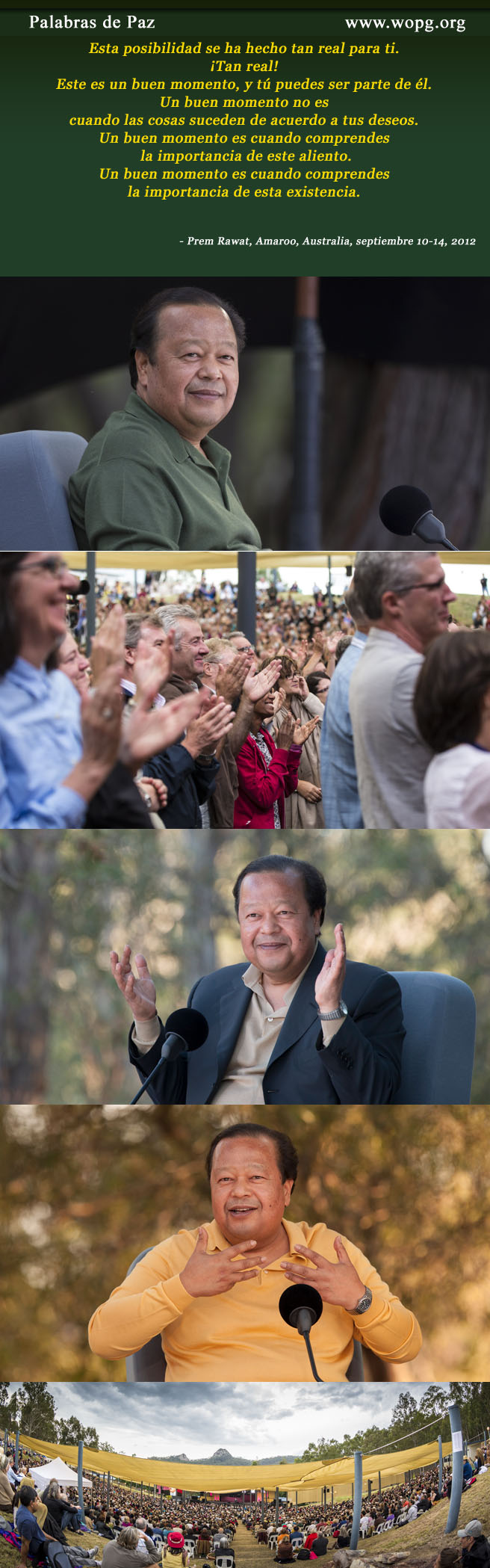 Prem Rawat, Amaroo, Australia, September 10-14, 2012,quote