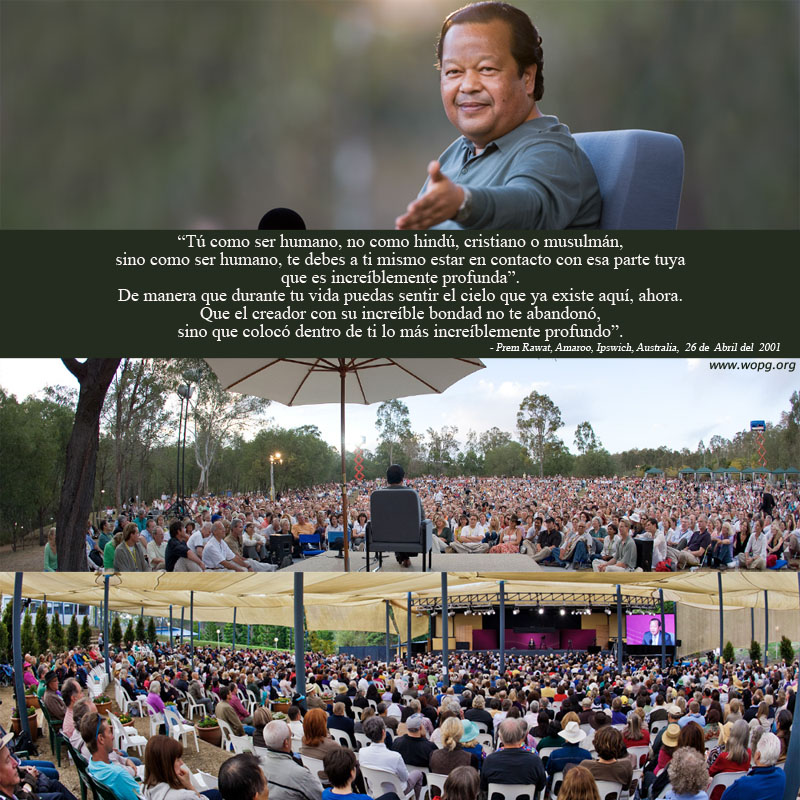 Prem Rawat, Amaroo, Ipswich, Australia, 26th, April, 2001,quote