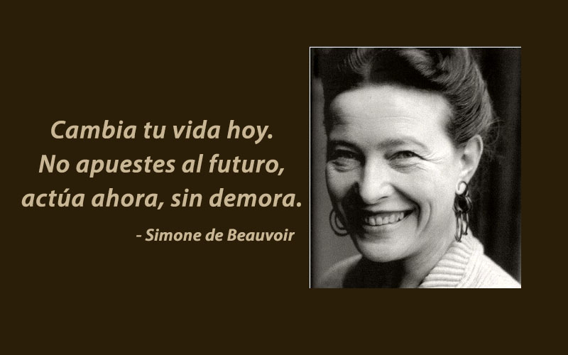 Simone de Beauvoir,quote