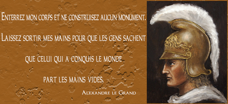 portrait,Alexandre le Grand,quote