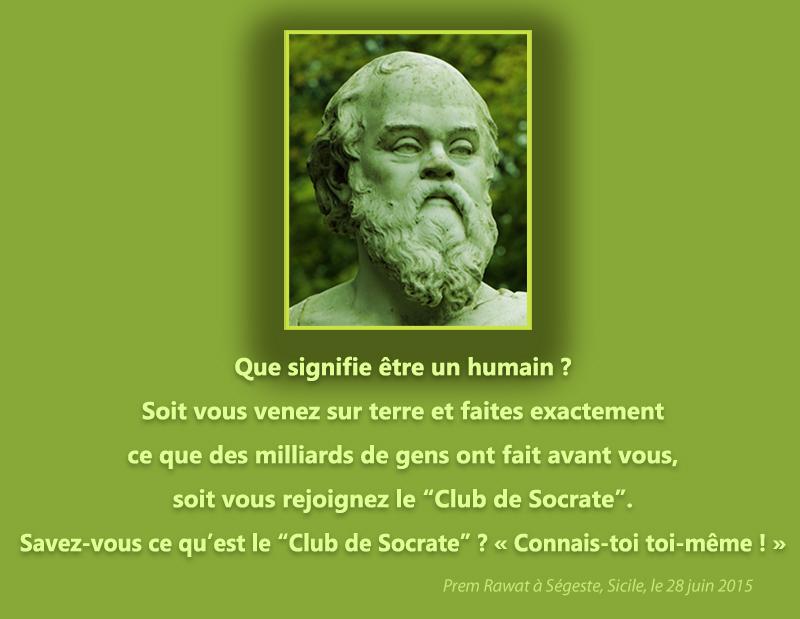portrait, Socrates,Prem Rawat à Ségeste, Sicile, le 28 juin 2015,quote