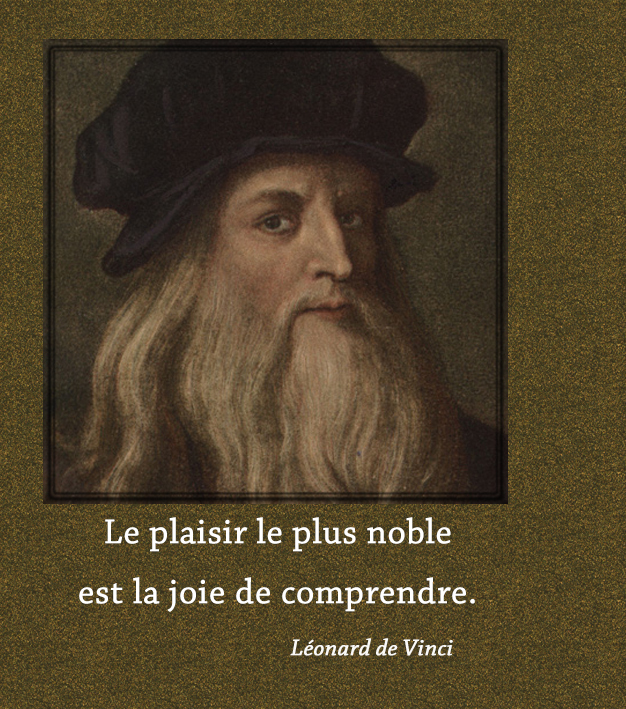 portrait,Léonard de Vinci,quote