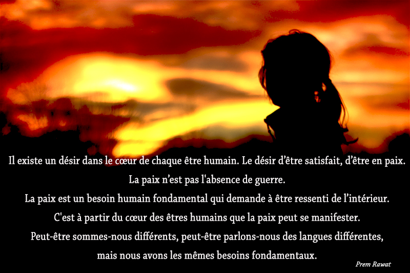 sunset, woman,Prem Rawat,quote
