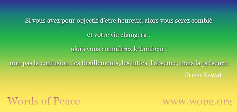vert, jaune,Prem Rawat,quote