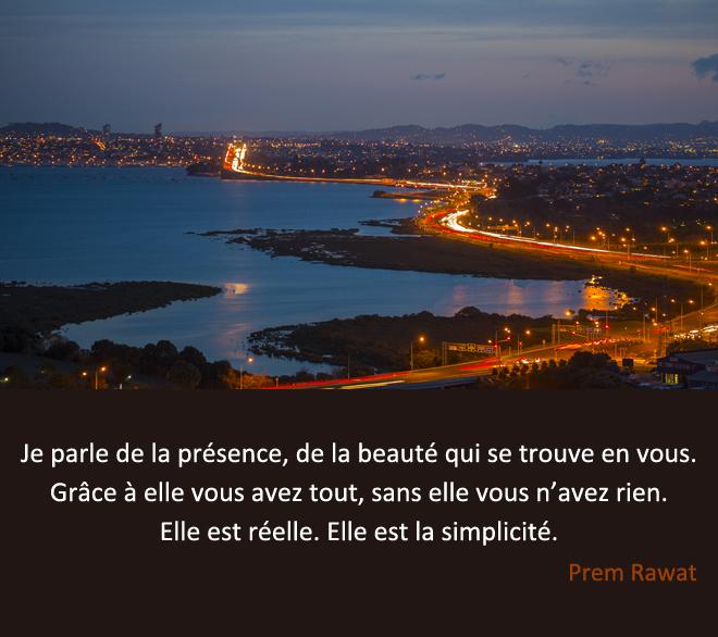 baie, lumières de la côte,Prem Rawat,quote