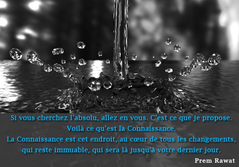 goutte d'eau,Prem Rawat,quote