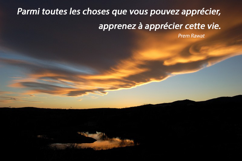 coucher de soleil,Prem Rawat,quote