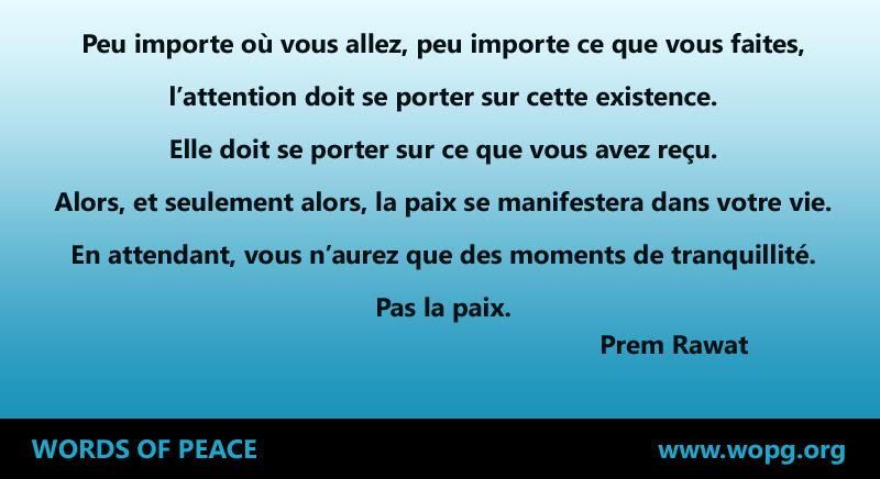 fond bleu,Prem Rawat,quote