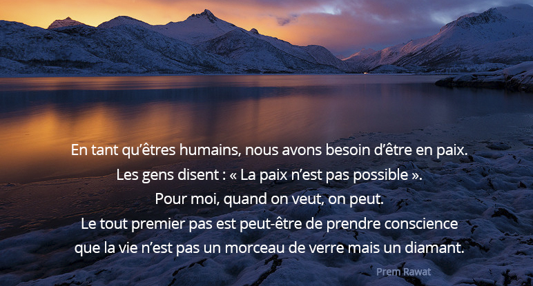 sunset, mountains, lake,Prem Rawat,quote