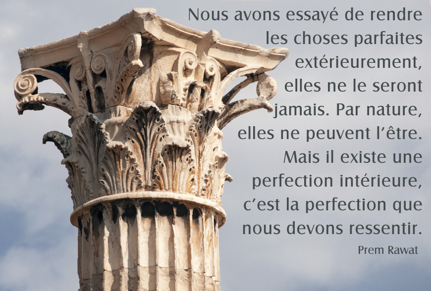 Greek column,Prem Rawat,quote