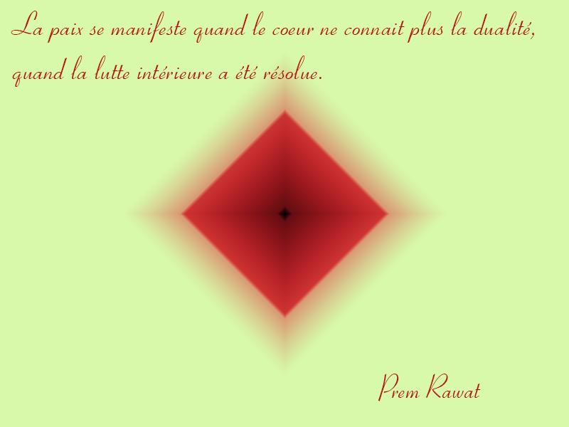 fond jaune et rouge,Prem Rawat,quote