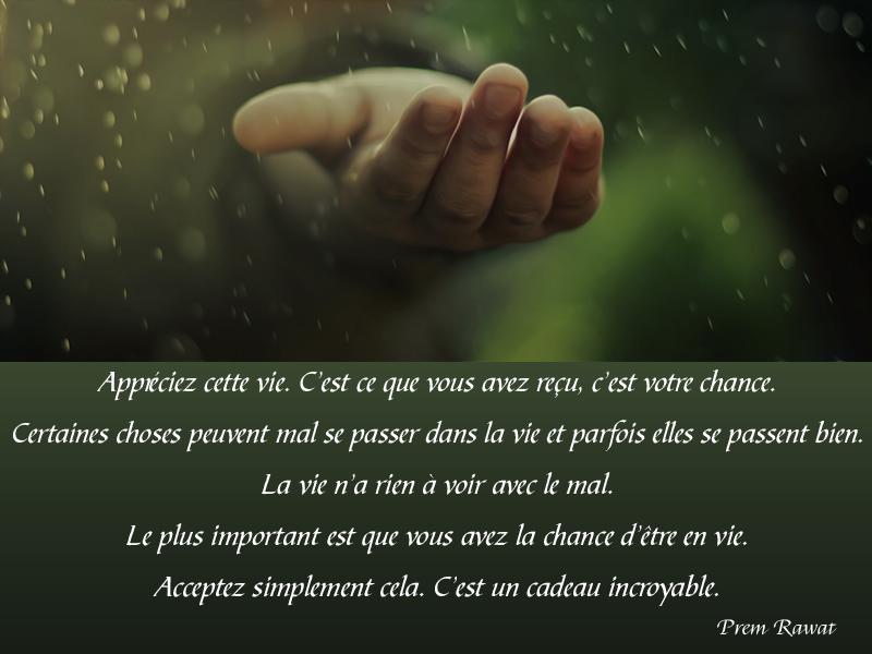 hand, rain,Prem Rawat,quote