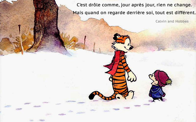 cartoon, snow,Calvin et Hobbes,quote