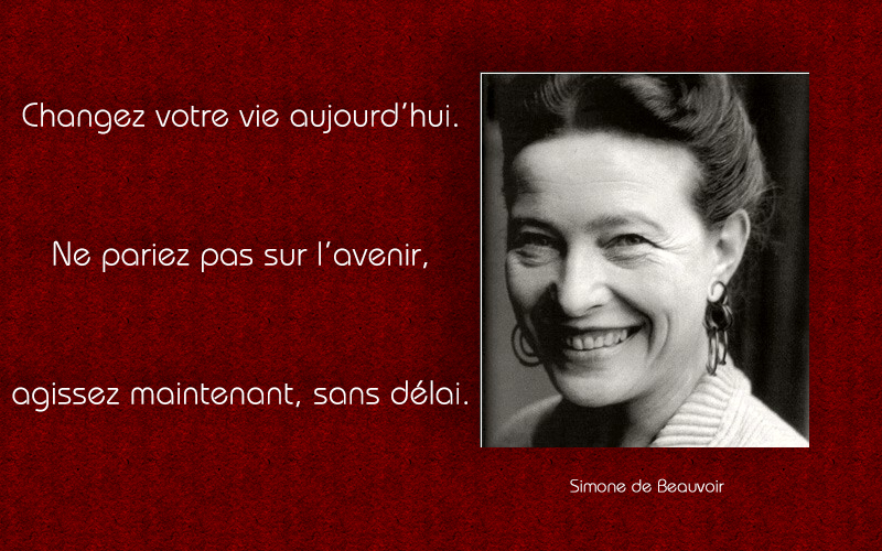 portrait,Simone de Beauvoir,quote