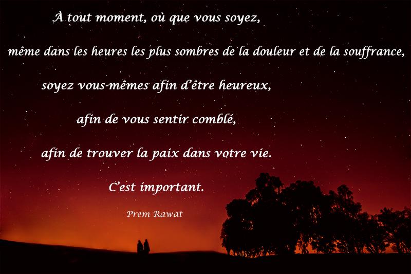 sunset, trees,Prem Rawat,quote