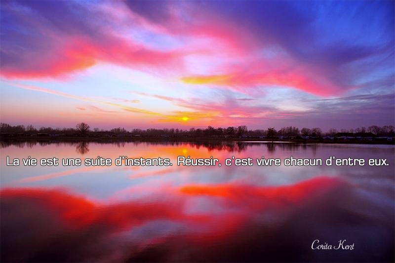 sunset, lake,Corita Kent,quote