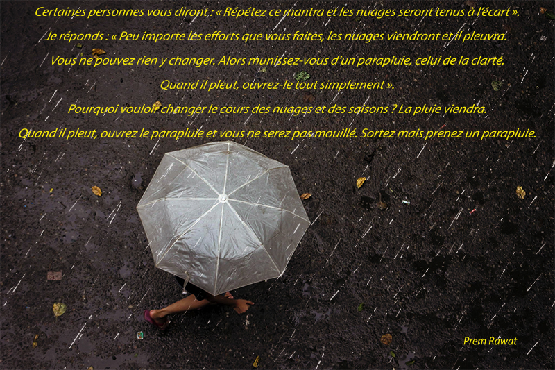 umbrella, rain,Prem Rawat,quote