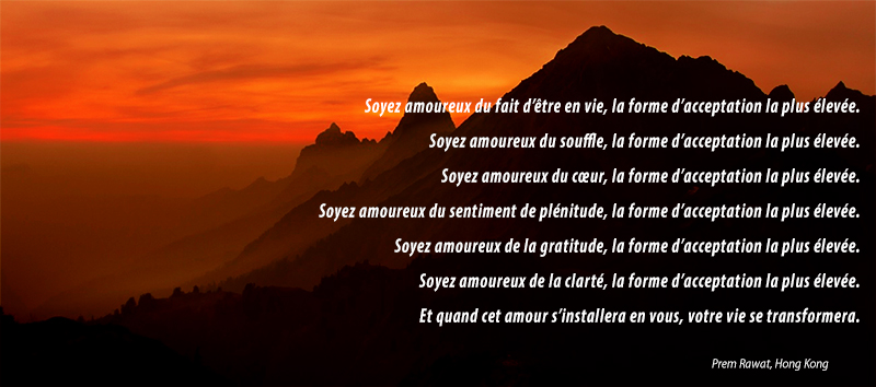 sunset, mountain,Prem Rawat,quote